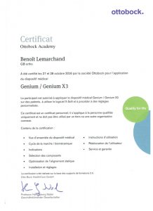 certification genium Benoit Lemarchand