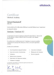 certification genium Gerard baskakoff