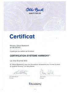 certificat harmony gerard baskakoff